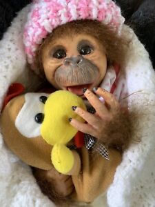 Sweet Reborn Baby MONKEY GIRL Doll COMPLETED baby Was BINKI Bountiful Baby