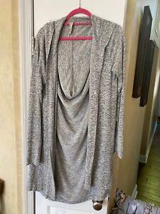 ATHLETA Harmony Wrap NWOT - Size SMALL  Light Grey Heather $79 #485956