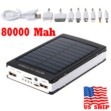 Dual USB Solar Power Bank 80000mAh Solar Battery Charger For Samsung iPhone 8 X