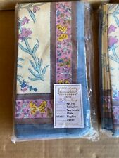 "Couleur Nature By Bruno Lamy Floral Buttery 19"" x 19"" Napkins Hand Made Set/ 6"