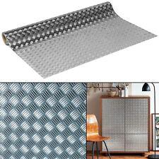 Riffelblech Folie 14?/m² Silber glanz Möbelfolie selbstklebend Metallic d-c-fix
