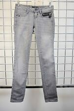 FIRETRAP WOMEN'S DESIGNER GREY CRUSH LOW RISE DENIM JEANS SIZE 24 DF