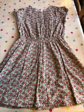 Lovely JONNIE B by BODEN dress. Green, red & white floral pattern, 13-14 years