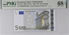 Euro 5 EURO Netherlands 2002 P 1 P Prefix Superb GEM UNC PMG 68 EPQ High