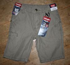 NEW Boys Wrangler Khaki Cargo Utility Shorts Adjustable Waist 4 NWT