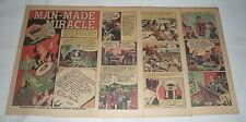 1946 seven page cartoon story ~ RAYON ~ Robert Hooke, Joseph Swan, more