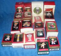 Lot Of 18 Vintage Hallmark Christmas Keepsake Ornaments In Boxes