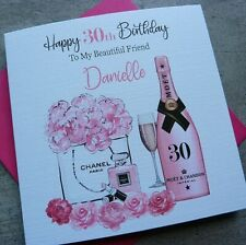 Handmade Personalised Birthday Card Campaign 18th 21st 30th 40th 50th 60th PP10