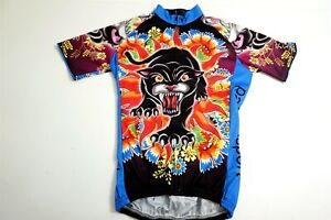 PALADIN Cycling Jersey Size S Short Sleeve Asian BLACK PANTHER theme