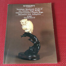SOTHEBYS AUCTION CATALOG  Furniture Art Books Oriental Ceramics Antiquities 1987