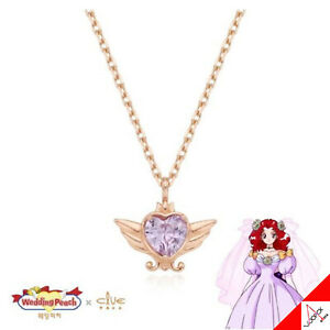 Clue X Wedding Peach Saint Something New 10K GOLD Necklace CLN20304T - Authentic