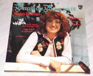 Helga REICHEL - Vergiß die Berge nicht / Rare 78er  PHILIPS - LP, No. 6305 363 !