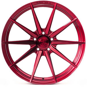 "20"" Rohana RF1 Gloss Red Concave Wheels for Audi"