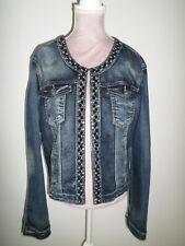 3536c3765a234 Veste en jeans strass et perles taille L neuve
