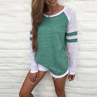 Women Casual Tops T-Shirt Loose Fashion Blouse Cotton Blouse Long Sleeve
