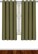 "2 Panel Curtains Blackout Room Darkening Grommet Window 52x63"" Utopia Home"