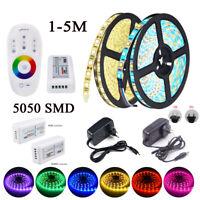 LED Flexible Strip Light 5050 RGB RGBW 2.4G RF Remote 12V Power 5m 4m 3m 2m KIT