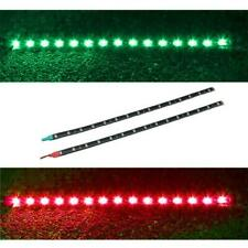 2pcs 12V 3W 30cm LED Flexible strip light RED & GREEN Waterproof
