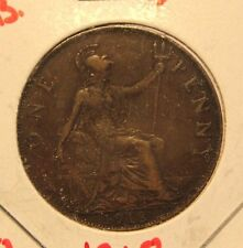 1918 Great Britain Penny with Holder thecoindigger World Estate