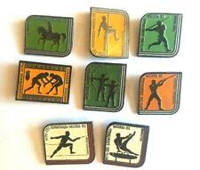 badge USSR OLYMPIC GAMES 1980 Moscow very rare set of 8 pcs.
