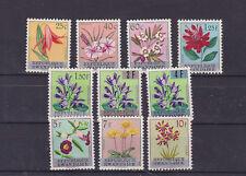 rwanda 1983 Sc 13/22 flower,optd,set MNH         l2262