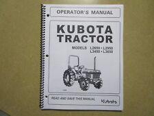 Kubota L2650 L2950 L3450 L3650 tractor owners & maintenance manual