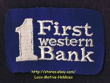 LMH PATCH Badge  1st FIRST WESTERN BANK Trust  Uniform pre 1981 Union CA Merger