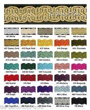 Silky Braid Gimp 15mm Trimmings Upholstery Furnishing Craft Trim. Per Metre