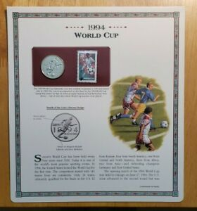 1994 P World Cup Proof Half Dollar Postal Commemorative Society Coin & Stamp