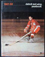 1967-68 DETROIT RED WINGS ANNUAL YEARBOOK - BRUCE MACGREGOR