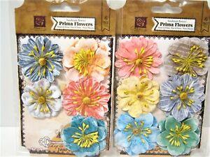 50 Papel Flores Lily Scrapbook cardmaking Muñeca Casa Artesanías suministro ly1-601