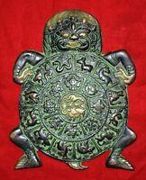 Tibetan Nepali Zodiac Signs Wall Hanging Brass Garuda Surrounded By Tibetan