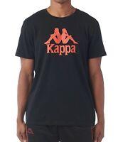 KAPPA mens t shirt top tee S M L XL  SLIM FIT crew neck short sleeve  BLACK