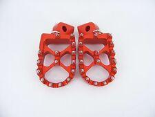 KTM  Foot pegs Footrests WIDE Anodized ORANGE EXC XC SX SXF 125-530