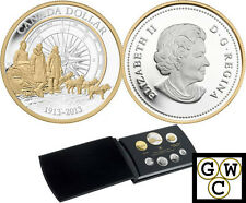 2013 Proof Set w/ proof gold plated dollar all coins .9999 Pure Silver (13095)