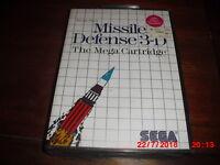 Missile Defense 3-D (Sega Master System, 1987) brand new