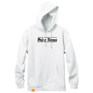 Enjoi Skateboard Hoody Fake News Pullover White