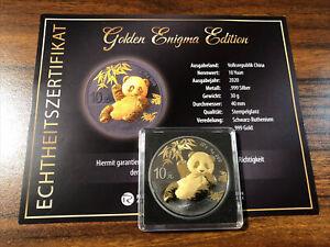Silbermünzen 1 oz Panda Golden Enigma Edition 2020 Mit Zertifikat