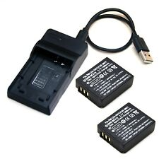 Battery / USB Charger For Panasonic Lumix DMC-TZ1 DMC-TZ2 DMC-TZ3 DMC-TZ4