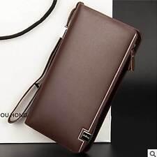 Long Pattern Multifunction Zipper Men's Leather Hang Bag Westem Style Wallet