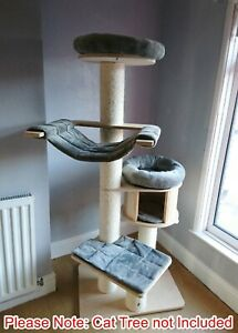 Handmade GREY Removable Cat Bed Replacement Set for Natural Paradise Cat Tree XL