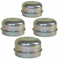 4 Replacement 50mm Metal Dust Cap Wheel Hub Trailer Bearing Grease Cover