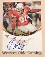 2006 Press Pass Rodrique Wright Auto Autographed Rookie Card RC