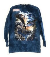 The Mountain Adult Find 11 Eagles Long Sleeve Blue Tee Sizes M-L-XL-2XL-3XL NWT