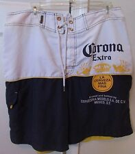 Corona Extra Cerveza Beer Licensed Blue White Board Shorts Bathing Suit Size XL/