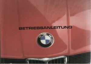 BMW 3er 315 E21 Betriebsanleitung 1982 Bedienungsanleitung Handbuch Bordbuch BA