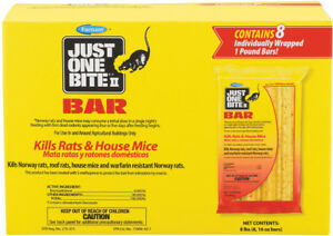 8 JUST ONE BITE II BAR PACKS. 8 LBS MOUSE AND RAT POISON. FEDEX 2 Day GREAT DEAL