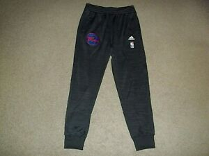 adidas Philadelphia 76ers Sixers NBA Dark Gray Adult Medium Drawstring Pants EUC