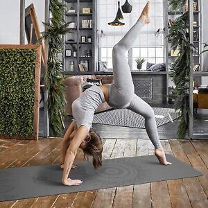 Yogamatte Fitnessmatte Gymnastikmatte Pilates Bodenmatte Naturkautschuk 185x68cm
