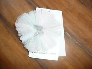 NEW NWT Childrens Place girls pretty pastel tulle butterfly head wrap